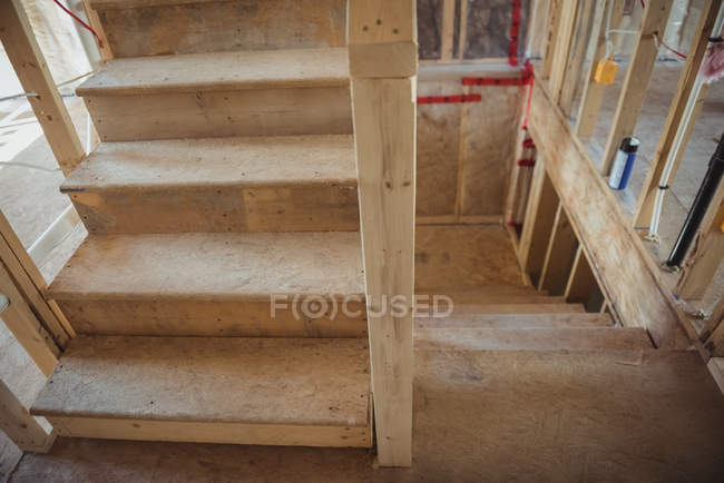 Close-up of staircase of a building under construction — Stock Photo