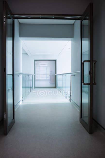 View of empty corridor in hospital — Stock Photo