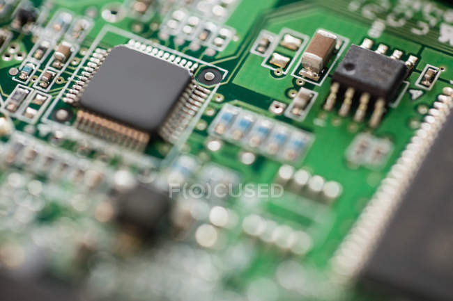 Close-up of circuit board in hard drive — Stock Photo