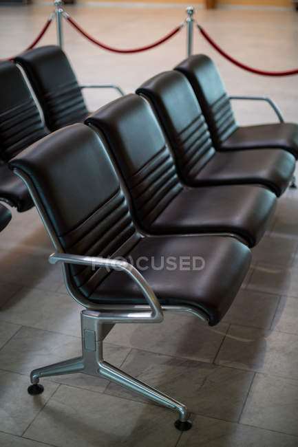 Close-up of empty seats at airport — Stock Photo