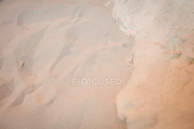 Крупный план песка на стекольном заводе — стоковое фото