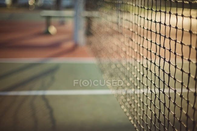 Primer plano de red de tenis - foto de stock