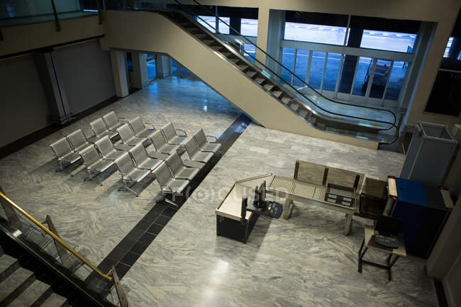 Empty waiting room at international airport — Stock Photo