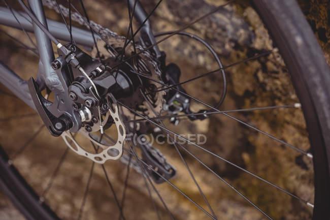 Close-up de detalhes da caixa de engrenagem de bicicleta — Fotografia de Stock