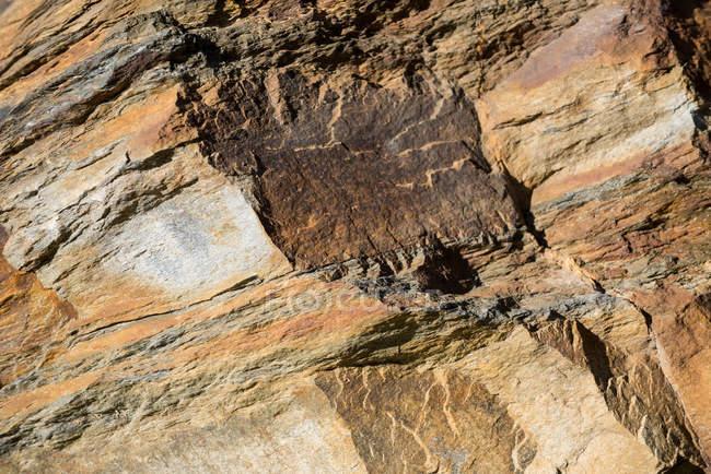 Close-up de textura de montanha rochosa, quadro completo — Fotografia de Stock