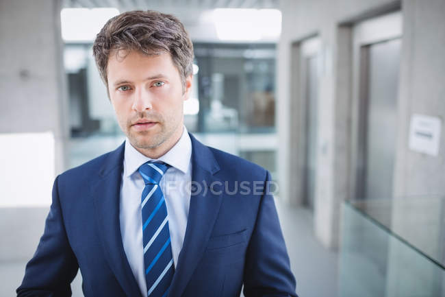 Portrait of a confident businessman standing in office — Stock Photo