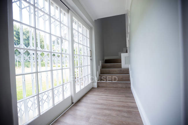 Exterior of a house with empty passage — Stock Photo