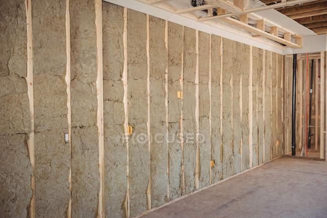 Внутрішніх стін споруджуваному будинку — стокове фото