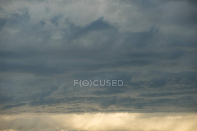 Non-urban scene of cloudy sky during sunset — Stock Photo