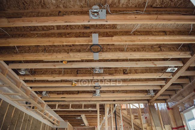 Interior of a building under construction — Stock Photo