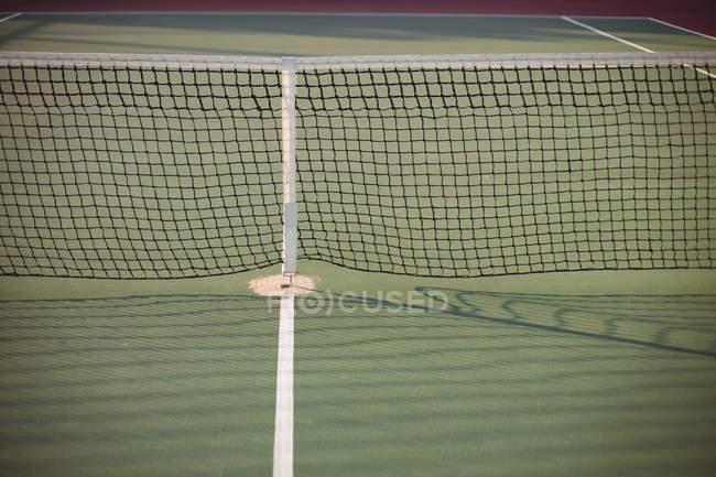 Close-up da rede no campo de ténis — Fotografia de Stock