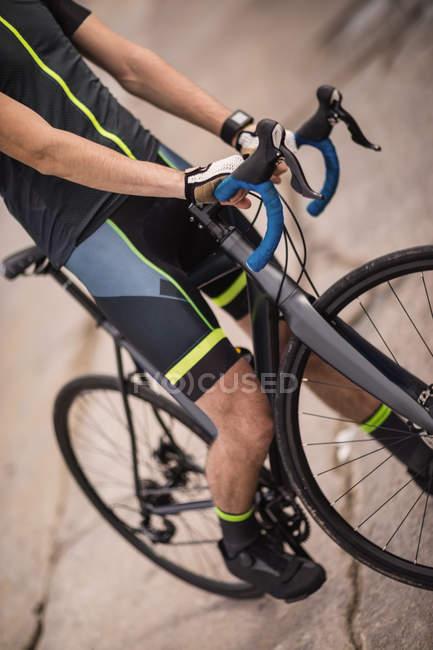 Средняя часть велосипеда для спортсменов — стоковое фото