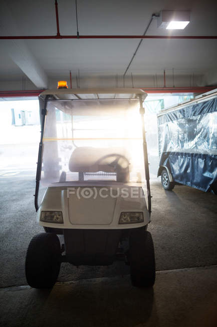 Electric buggy cart at the airport — Stock Photo