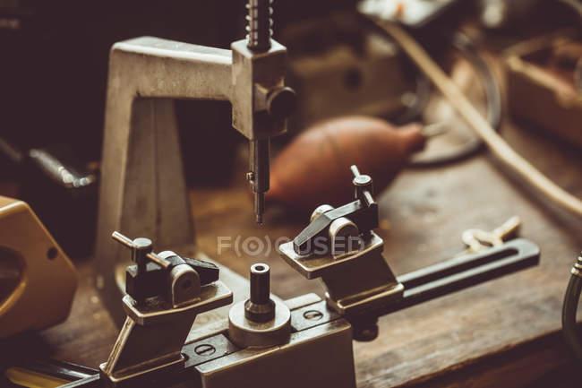 Nahaufnahme von Fräsen Maschinenteil — Stockfoto