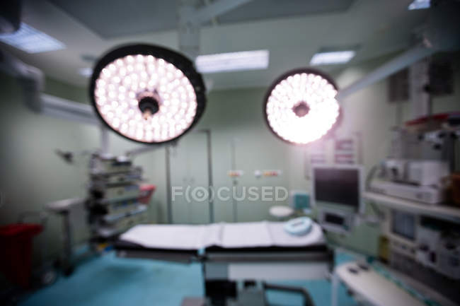 Interior view of operating room in hospital — Stock Photo