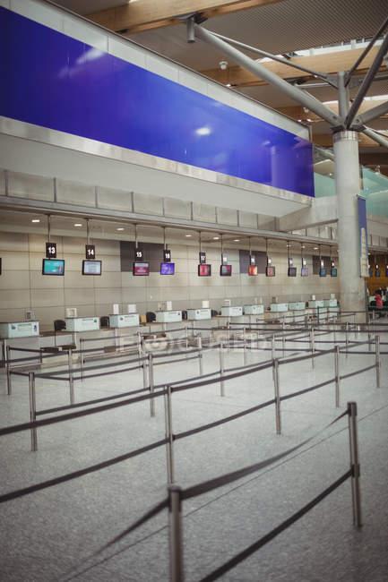 Порожній-Реєстрація лічильників в термінал — стокове фото