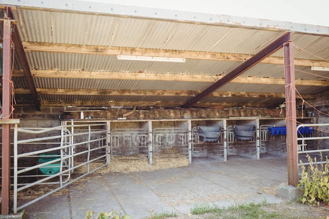 Interior view of old barn building — Stock Photo