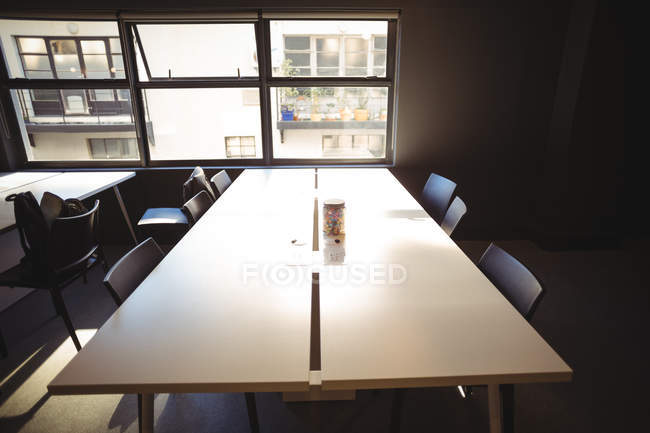 Empty table in office cafeteria — Stock Photo