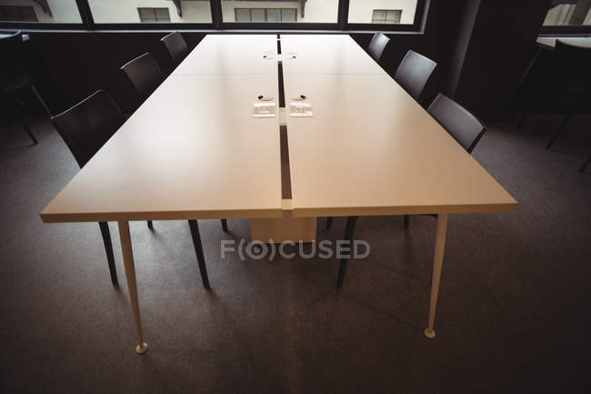 Empty table in cafeteria at office — Stock Photo