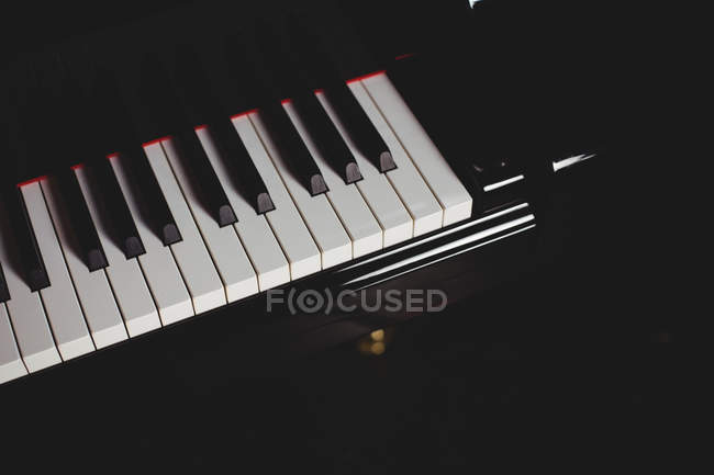 Close-up of piano in music school — Stock Photo