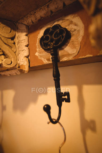 Close-up of antique hanger in antique shop — Stock Photo