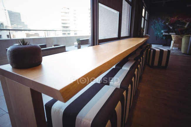 Modern table in cafeteria at office — Stock Photo