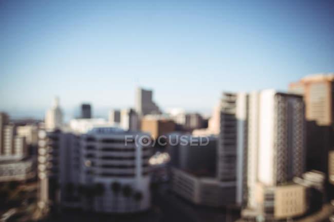 Vista sfocata degli edifici per uffici — Foto stock