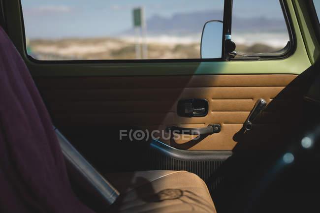 Close up of empty vehicle interior — Stock Photo