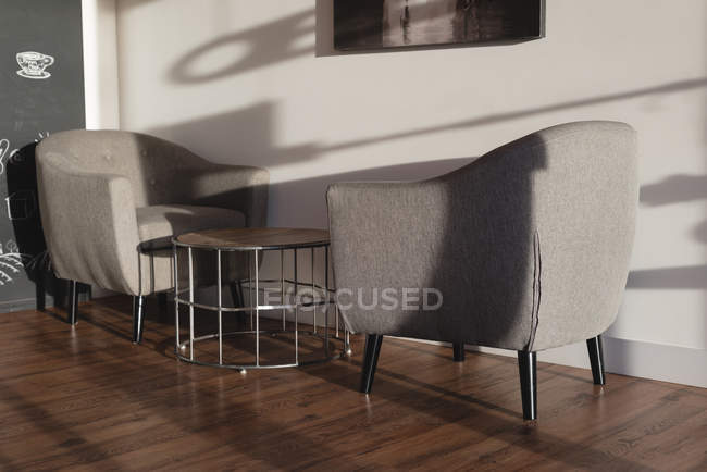 Interior of empty modern cafe — Stock Photo