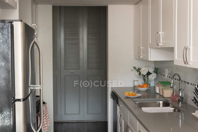 Front view image of kitchen room — Stock Photo