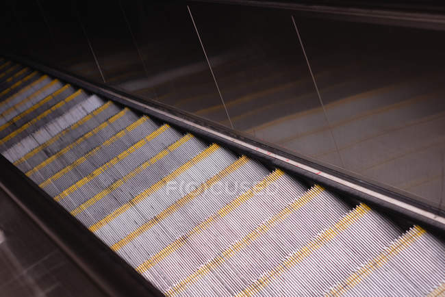 High angle view of empty escalators — Stock Photo