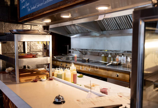 An area of the kitchen at a restaurant — Stock Photo