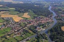 Aerial view of land, France, Nord-Pas de Calais — Stock Photo