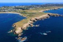 Vista aerea della penisola di Quiberon, Francia occidentale, Francia — Foto stock