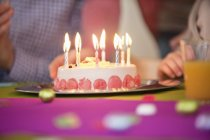 Close-up of birthday cake, selective focus — Stock Photo