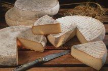 Saint-Nectaire cheese storage, Auvergne, France — Stock Photo