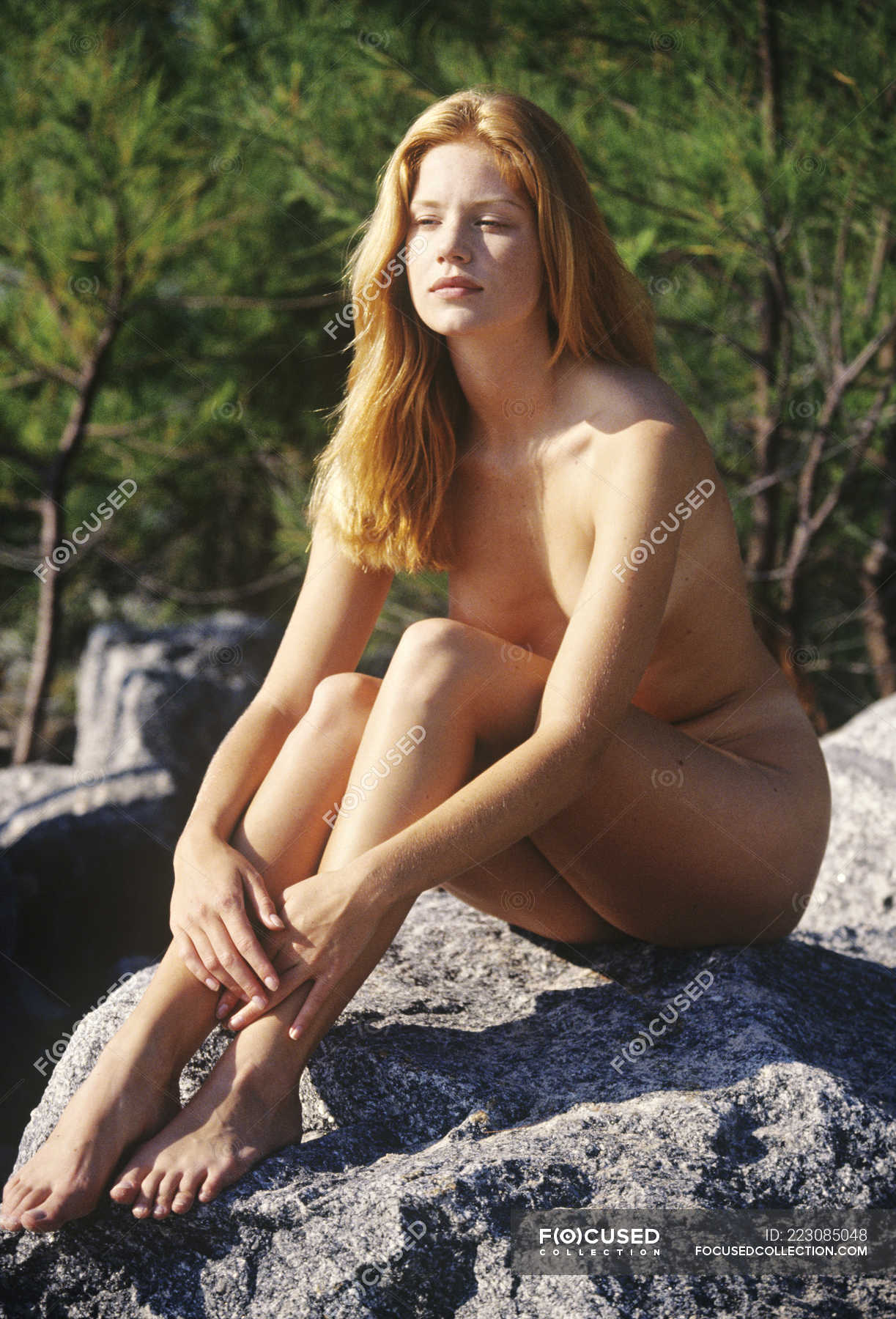 Young woman naked