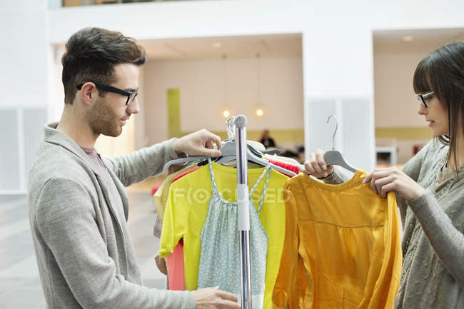 Fashion designers working in office together — Stock Photo