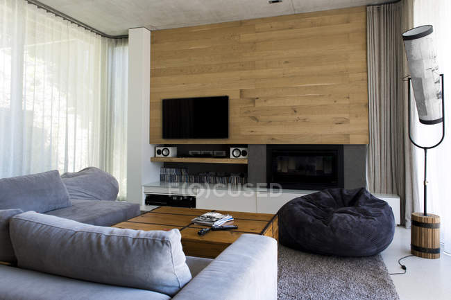 Interior of modern cozy living room — Stock Photo