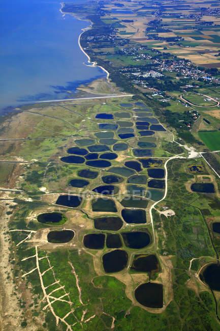 Vista aérea de terra, França, Nord-Pas de Calais — Fotografia de Stock
