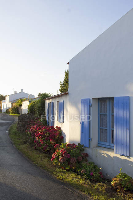 Scenic view of white buildings at France — Stock Photo