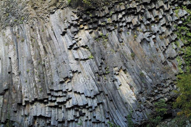 Frankreich, Ardeche, Tal von Lignon, basaltische Ströme und Felsformationen — Stockfoto
