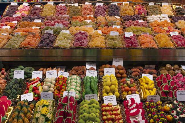 Negozio di caramelle Espagne, Catalogne, Barcelone — Foto stock