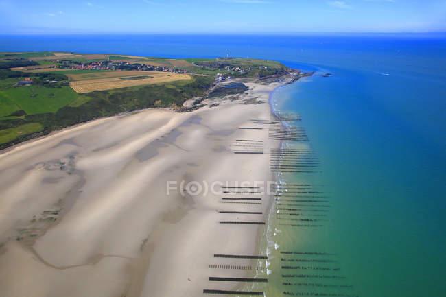 Vista panoramica su Francia, Nord della Francia, Pas de Calais. Wissant Bay — Foto stock