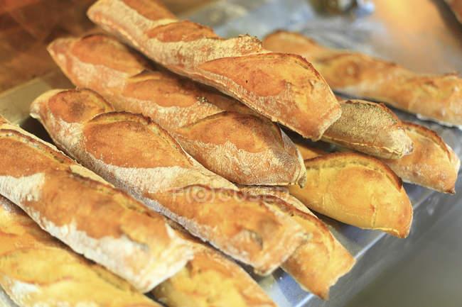 Pane in Francia panetteria, attenzione selettiva — Foto stock