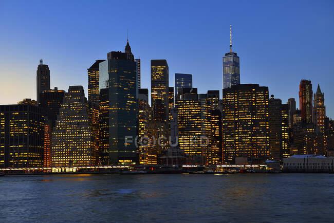 Уса, Нью - Йорк, місто у світлі Уолл - стріт. — стокове фото
