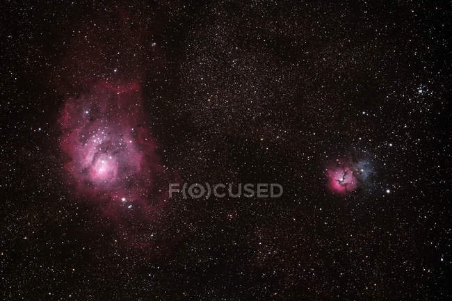 The heart of constellation Sagittarius, preserved under sky light pollution — Stock Photo
