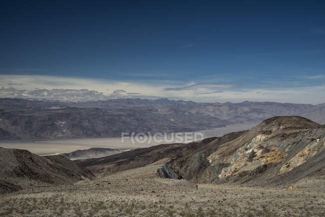 Бесплодный пейзаж Долины Смерти, Невада, Калифорния, Сша — стоковое фото