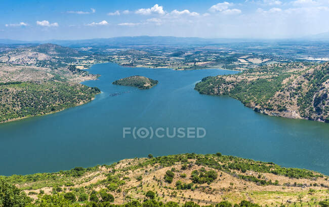 Турция, провинция Измир, Пергамон, озеро Дам (река Келиос)) — стоковое фото