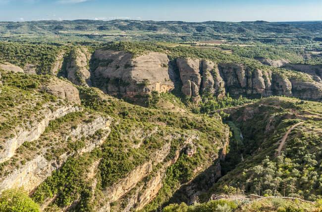 Испания, община Арагон, национальный парк Сьерра и каньоны Гуара, каньон Рио-Веро — стоковое фото